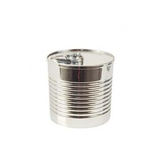 Papstar Fingerfood-Becher Tin can Farbe silber aus Polystyrol 220ml