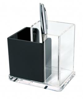 WEDO Acryl Butler Stiftehalter Acryl Exklusiv Glasklar Schwarz