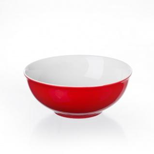Ritzenhoff und Breker Schale rot Porzellan Serie Doppio flach 13cm