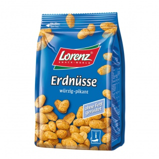 Lorenz Erdnüsse würzig pikant im Geschmack und ohne Fett geröstet 150g
