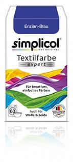 Simplicol Textilfarbe expert Für kreatives einfaches Färben 1709 Enzian Blau Neu!