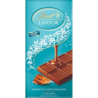 Lindt Lindor Caramel und Salz Schokolade mit Fleur de Sel 100g