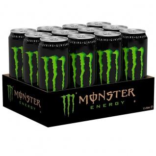 Monster Energy Drink Erfrischungsgetränk mit Koffein 500ml 12er Pack