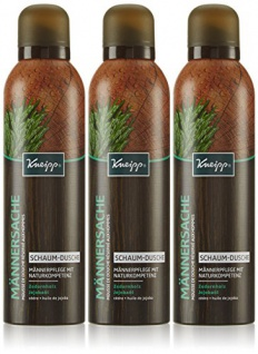 Kneipp Schaum-Dusche Männersache 200 ml, 3er Pack (3 x 0.2 l)