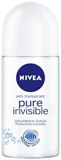 Nivea Deo Pure Invisible Deoroller, Antitranspirant, 6er Pack (6 x 50 ml)