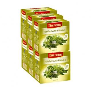 Milford Fenchel Anis Kümmel Kräutertee würzig aromatisch 6er Pack