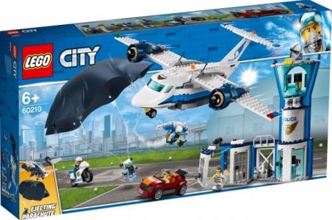 Lego 60210 City Polizei Fliegerstützpunkt Spielzeugset bunt für Jungen