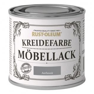Rust Oleum Shabby Kreidefarbe Möbellack Anthrazit mattes Finish 125ml