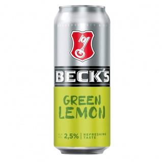 Becks Green Lemon erfrischender Geschmack spritzig limonig 500ml Dose