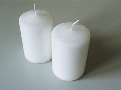 Kerzen Stumpenkerzen Farbe Weiss 120x80mm RAL Qualität 2 Stück