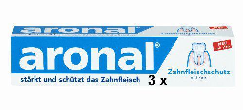 3 aronal Zahnpasta Tuben je 75 ml
