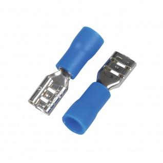 Kfz Flachsteckhuelsen 4, 8mm blau