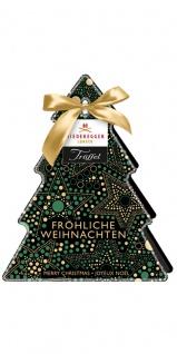 Niederegger Trüffel Tannenbaum mit Sternen Pralinen aus Schokolade 84g