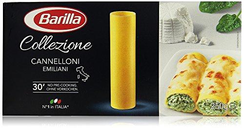 Barilla La Collezione Cannelloni, Teigwaren aus Hartweizengrieß 1000g 4er Pack