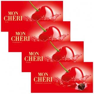 Mon Cheri 15 einzelne verpackte Piemont Kirsch Pralinen 157g 4er Pack