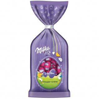 Milka Ostereier mit Knusper Creme einzeln verpackte Mini Eier 100g