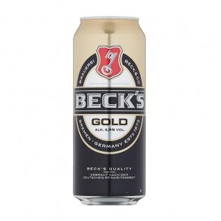 Becks Gold das erfrischende weniger milde Pils in der Dose EW 500ml