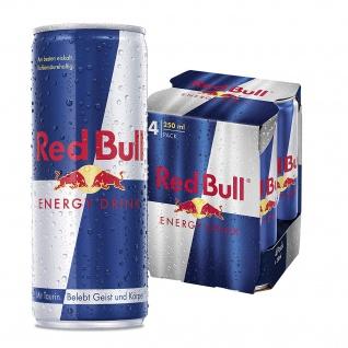 Red Bull Energy Drink koffeinhaltiges Erfrischungsgetränk 250ml 4erPack