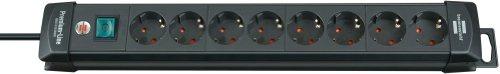 Brennenstuhl Premium-Line Steckdosenleiste 8-fach Steckdosen Farbe: schwarz