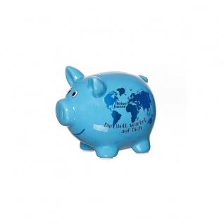 Ritzenhoff und Breker Flirt Keramik Sparschwein Reisekasse blau