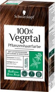 Schwarzkopf 100 Prozent Vegetal Rotbraun pflanzliche Haarfarbe