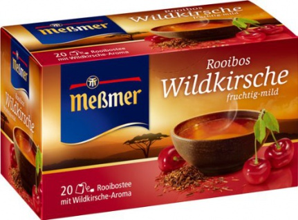 Meßmer Tee Rooibos Wildkirsche fruchtig und milder Geschmack