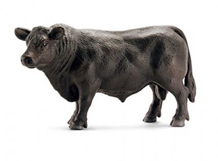 Schleich 13766 - Angus Bulle, Tier Spielfigur, schwarz