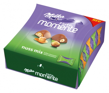 Milka Zarte Momente Nuss Mix zarte Füllung mit ganzer Haselnuss 169g