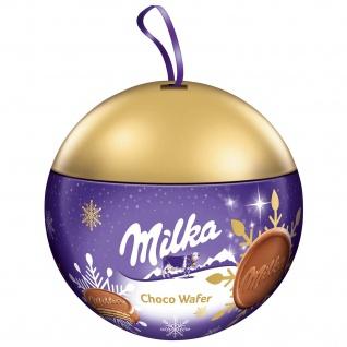 Milka Weihnachtskugel Choco Wafer Schokolade mit Füllung 180g