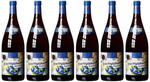 Katlenburger Heidelbeere Fruchtglühwein süß und fruchtig 1000ml 6er Pack