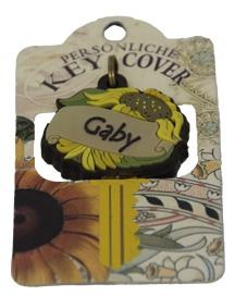 Schlüsselkappe Schlüsselköpfe Form einer Sonnenblume Name Gaby