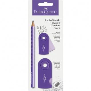 Faber Castell Graphit Pencil Bleistift Set Jumbo Sparkle Lila