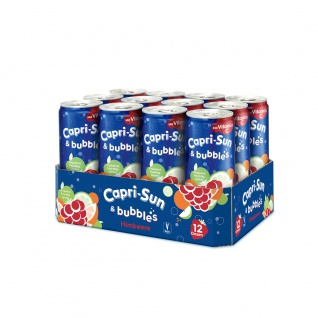 Capri Sun Bubbles Himbeere Kohlensäurehaltiges Getränk 330ml 12er Pack