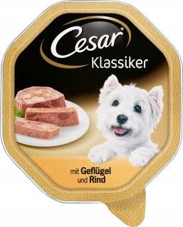 Cesar Nassfutter Klassiker Selektion mit Geflügel und Rind 150g