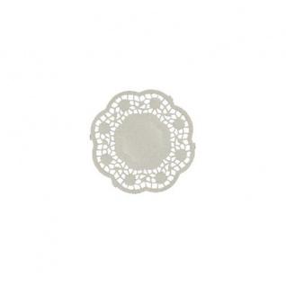 Teller und Tassendeckchen rund 10cm weiß von Papstar 1000 Stück