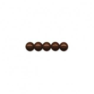 Brunnen 50 Holzperlen 10mm dunkelbraun für Ketten und Armbänder