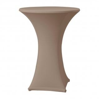 Dena Stehtischhusse Farbe taupe schnelle und einfache Montage Durchmesser 85cm