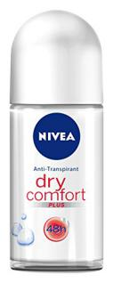 Nivea Deo Dry Comfort Plus Roll-On, Antitranspirant, 3er Pack 3 x 50 ml