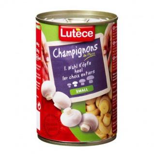 Lutece Champignon erste Wahl Köpfe Größe small 400g 6er Pack