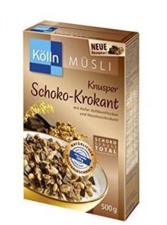 Kölln Knusper Vollkornmüsli mit Schokohaselnusskrokant 500g 6er Pack