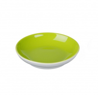 Ritzenhoff und Breker Schale grün Porzellan Serie Doppio flach 13cm