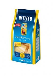 De Cecco Paccheri Nr. 125 Hartweizengrießnudeln ohne Ei 500g