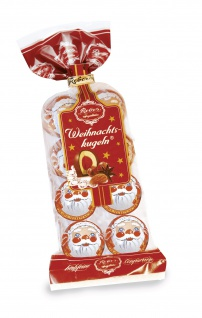 Reber Weihnachtskugel 8 Stück aus Schokolade in einer Tüte 160g