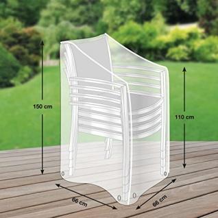 Premium Schutzhülle mehr Garten für Stapelstühle 66x66cm