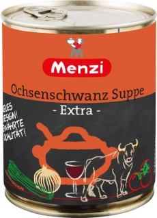 Menzi Ochsenschwanzsuppe extra mit Rotwein verfeinert 800ml