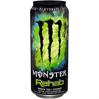 Monster Rehab Green Tea Energy Drink mit Taurin und Guarana 500ml