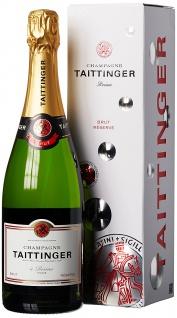 Champagner Taittinger Brut Reserve GP Geschenkpackung leichter Champagner 750ml
