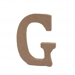Bastelbuchstabe G Holzbuchstabe zum basteln Buchstabe aus Holz