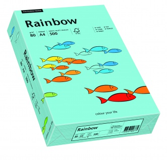 Kopierpapier Rainbow mittelblau A4