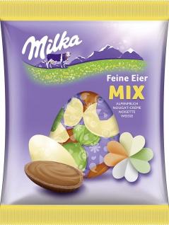 Milka Feine Eier Mischung - Ideal für den bunten Teller, 135 g
